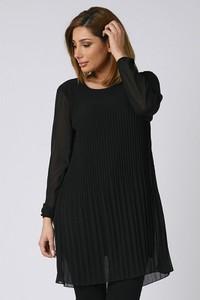 Czarna bluzka Plus Size Company z długim rękawem