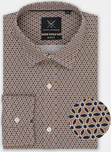 Brązowa koszula Pako Lorente w młodzieżowym stylu z bawełny z długim rękawem