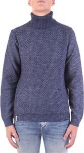 Niebieski sweter Fred Mello z wełny