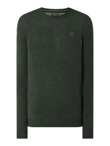 Zielony sweter McNeal z okrągłym dekoltem w stylu casual