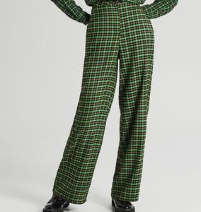 Zielone spodnie Cropp w stylu retro