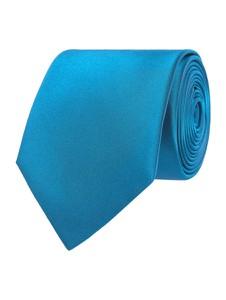 Niebieski krawat Montego z jedwabiu