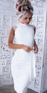 2afb3991b7 Sukienka elegrina w stylu klasycznym bandażowa bez rękawów
