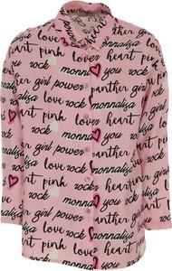 Różowa bluzka dziecięca Monnalisa z długim rękawem