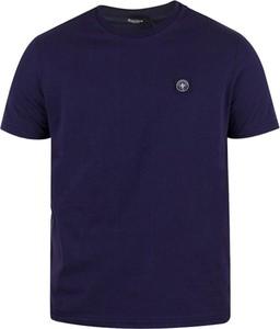 Niebieski t-shirt Three Stroke Productions