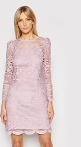 Sukienka Luisa Spagnoli z długim rękawem z okrągłym dekoltem