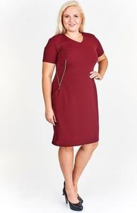Czerwona sukienka Fokus z dzianiny