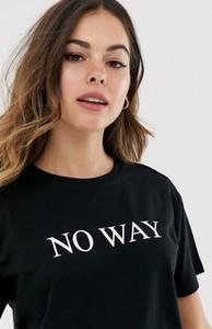 Czarny t-shirt Asos z okrągłym dekoltem z krótkim rękawem