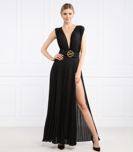 Sukienka Elisabetta Franchi z dekoltem w kształcie litery v bez rękawów maxi