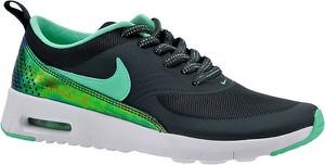 Turkusowe buty sportowe dziecięce Nike ze skóry dla dziewczynek sznurowane