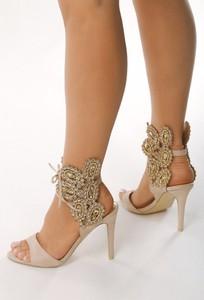 Sandały born2be na szpilce w stylu klasycznym ze skóry ekologicznej