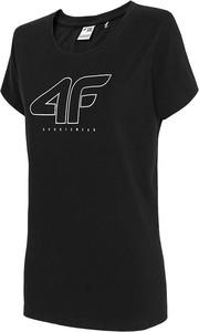 T-shirt 4F z krótkim rękawem z okrągłym dekoltem w sportowym stylu