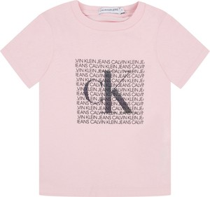 Różowa koszulka dziecięca Calvin Klein