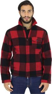 Czerwona koszula Woolrich z wełny