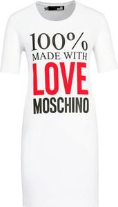 Sukienka Love Moschino w stylu casual z okrągłym dekoltem