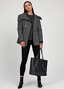 Płaszcz Gate w stylu casual z wełny