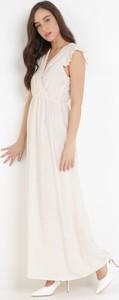 Sukienka born2be maxi z dekoltem w kształcie litery v bez rękawów