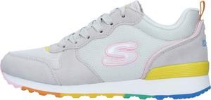 Buty sportowe Skechers w sportowym stylu z płaską podeszwą sznurowane