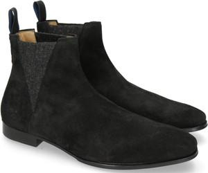 Czarne buty zimowe Melvin & Hamilton ze skóry