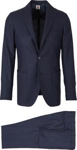 Niebieski garnitur Borrelli z tkaniny