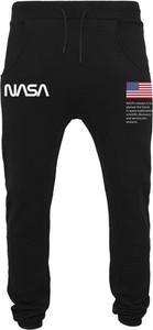 Czarne spodnie sportowe Nasa z dresówki