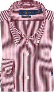 Różowa koszula POLO RALPH LAUREN z kołnierzykiem button down z bawełny
