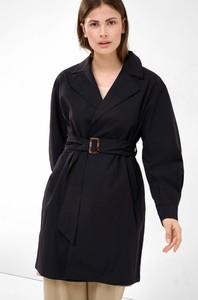 Czarny płaszcz ORSAY z tkaniny