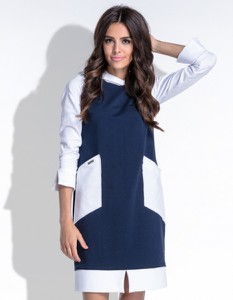 Niebieska sukienka Fobya mini sportowa