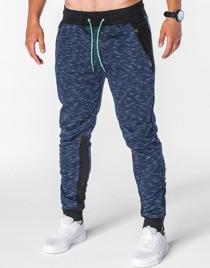 Granatowe spodnie Ombre Clothing