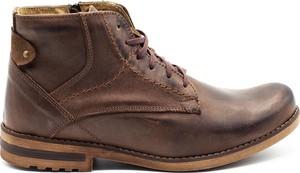 Brązowe buty zimowe Komodo w stylu casual