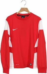 Czerwona koszulka dziecięca Adidas z długim rękawem dla chłopców