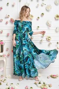 Turkusowa sukienka Ella Boutique