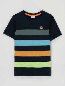 Granatowa koszulka dziecięca S.Oliver z krótkim rękawem z bawełny