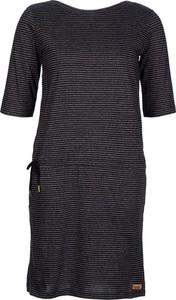Czarna sukienka Derbe prosta z okrągłym dekoltem