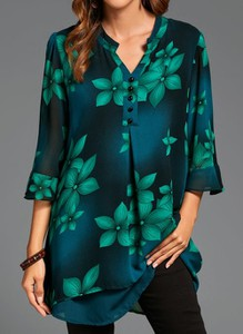 Bluzka Cikelly w stylu casual z dekoltem w kształcie litery v