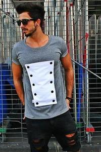 T-shirt Button z krótkim rękawem