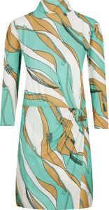 Sukienka Elisabetta Franchi z długim rękawem mini z golfem