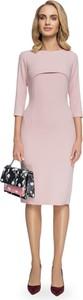 Sukienka Style z wełny midi z okrągłym dekoltem