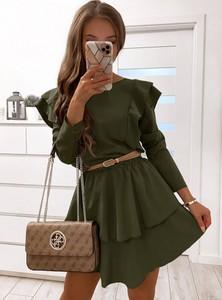 Zielona sukienka Pakuten mini oversize
