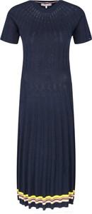 Niebieska sukienka Tommy Hilfiger w stylu casual