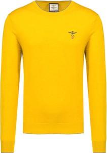 Żółty sweter Aeronautica Militare w stylu casual