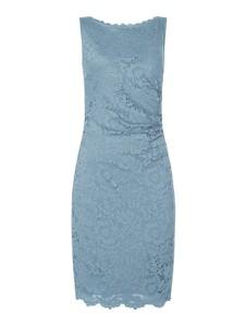 Niebieska sukienka Vera Mont bez rękawów mini ołówkowa