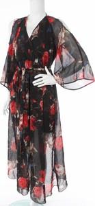 Sukienka Miss Avenue z długim rękawem z dekoltem w kształcie litery v maxi