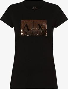 Czarny t-shirt Armani Jeans w stylu casual