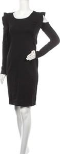 Sukienka Sinsay z okrągłym dekoltem mini z długim rękawem