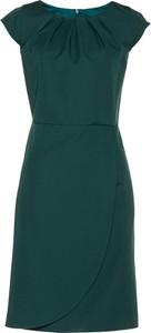 Zielona sukienka bonprix bpc selection premium z okrągłym dekoltem ołówkowa