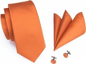 Pomarańczowy krawat e-spinki.pl