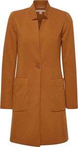 Brązowy płaszcz Esprit w stylu casual z wełny