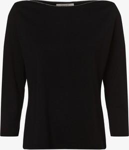 Czarny t-shirt comma, z okrągłym dekoltem w stylu casual