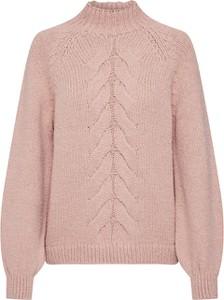 Różowy sweter Only z dzianiny w stylu casual